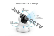 Xiaomi Yi Dome 360° Smart IP Cam HD_1.0 MP Night Vision [Black] |kamera rumah|kamera bayi|kamera 360°
