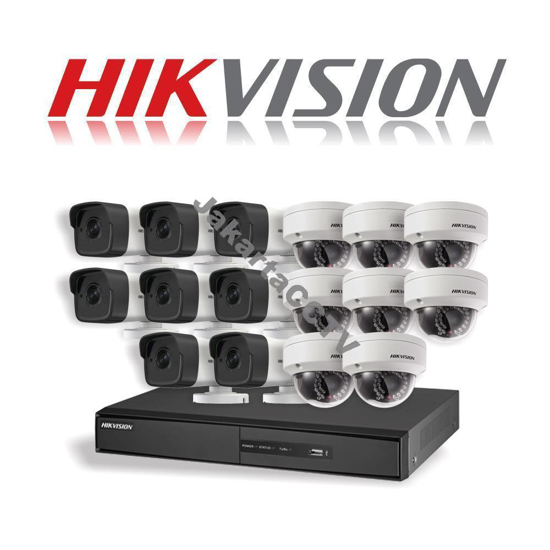 Gambar Paket CCTV Hikvision 16 Channel Network Camera 1.0 MP