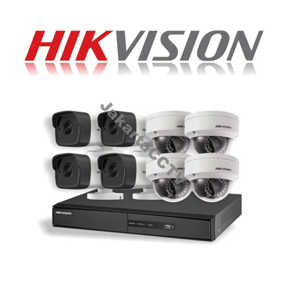 Gambar Paket CCTV Hikvision 8 Channel Network Camera 1.0 MP