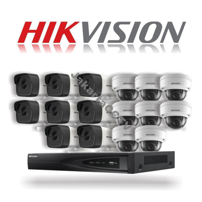 Gambar Paket CCTV Hikvision 16 Channel Network Camera 2.0 MP