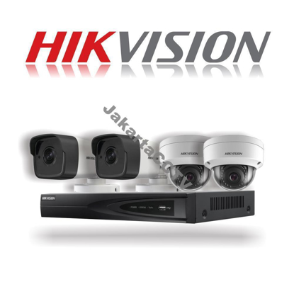 Gambar Paket CCTV Hikvision 4 Channel Network Camera 2.0 MP