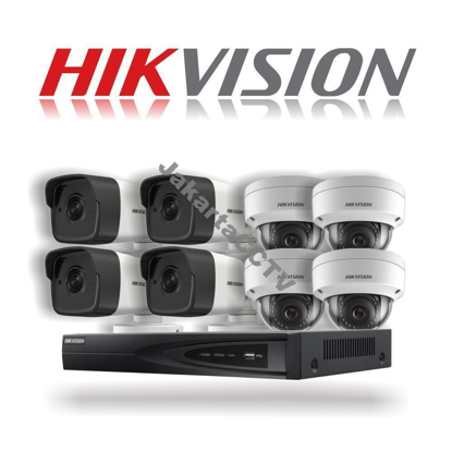 Gambar Paket CCTV Hikvision 8 Channel Network Camera 2.0 MP
