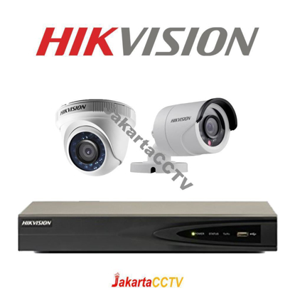 Gambar Paket CCTV Hikvision 2 Channel 2.0 MP