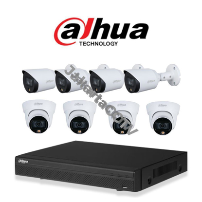 Gambar Paket CCTV Dahua Full Color 2MP 8 Channel