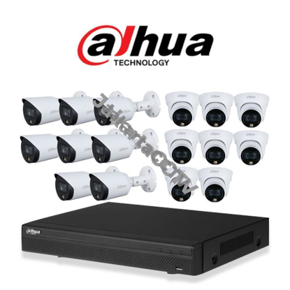 Gambar Paket CCTV Dahua Full Color 2MP 16 Channel