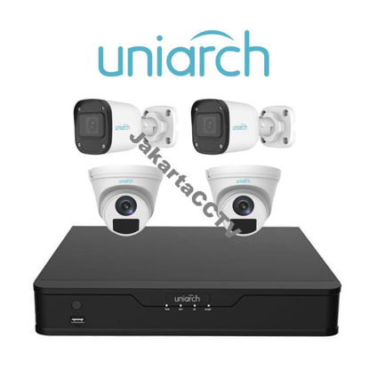 Gambar Paket CCTV Easy Combo Uniarch 4 Channel  2.0 MP